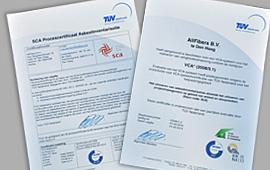 AllFibers Certificaten
